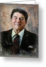 Ronald Reagan Portrait 7 Greeting Card by Corporate Art Task Force
