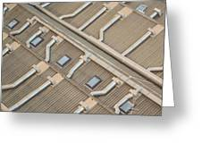 Rooftop Ducts Greeting Card by Bill Mock