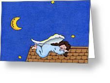 Rooftop Sleeper Greeting Card by Sarah Batalka