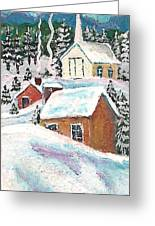Rooftops Greeting Card by MarLa Hoover