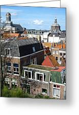 Rooftops Of Leiden Holland Greeting Card by Robert Ford