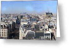 Rooftops Of Paris Greeting Card by Thomas Marchessault