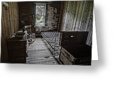 Room At The Wells Hotel - Montana Greeting Card by Daniel Hagerman