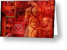Root Chakra Greeting Card by Mark Preston