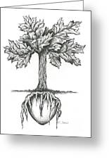 Roots Of The Heart Greeting Card by Karen Sirard