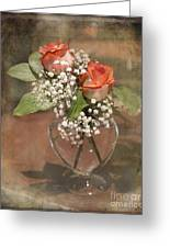Rose Bowl Greeting Card by TN Fairey
