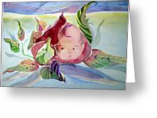 Rose Bud Greeting Card by Mindy Newman