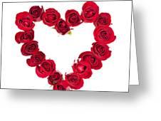 Rose Heart Greeting Card by Elena Elisseeva