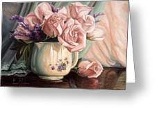 Rose Roses Greeting Card by Lucie Bilodeau