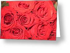 Rose swirls Greeting Card by Sonali Gangane