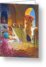 Rose Water Greeting Card by Munir Alawi