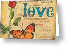 Roses And Butterflies 2 Greeting Card by Debbie DeWitt