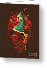 Roses Are Red But Why You Look So Blue Greeting Card by Nava Seas