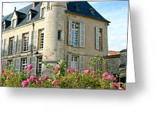 Roses at the Castle Greeting Card by Olivier Le Queinec