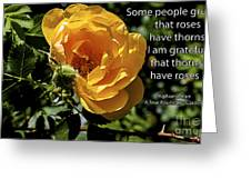 Roses Have Thorns Greeting Card by Janice Rae Pariza