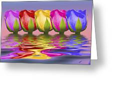 Roses Rising Greeting Card by Tom Mc Nemar