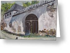 Rosia Montana Old House Greeting Card by Maria Karalyos