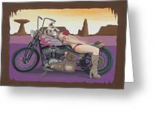 Rosie The Pitbull Pinup Greeting Card by Stuart Swartz