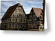 Rothenburg Architecture Greeting Card by Joanna Madloch