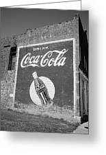Route 66 - Coca Cola Ghost Mural Greeting Card by Frank Romeo