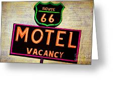 Route 66 Drawing Greeting Card by Dan Julien