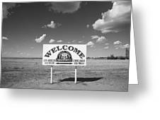 Route 66 - Midpoint Sign Greeting Card by Frank Romeo