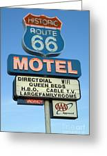 Route 66 Motel Sign 3 Greeting Card by Bob Christopher