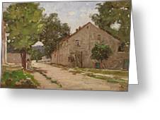 Route De Port-marly, C.1860-67 Greeting Card by Camille Pissarro