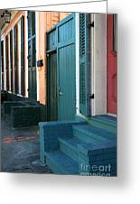 Row Colors Greeting Card by John Rizzuto