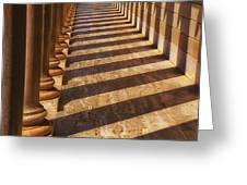 Row Of Pillars Greeting Card by Garry Gay