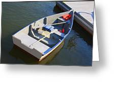 Rowboat At The Bay Greeting Card by  Photographic Art and Design by Dora Sofia Caputo