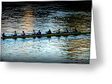 Rowing On The River Greeting Card by Susan Garren