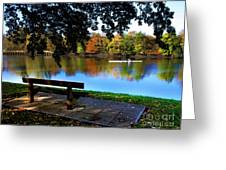 Rowing The Itchen In Autumn Greeting Card by Terri  Waters
