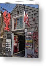 Roy Moore Lobster Company Greeting Card by Joann Vitali