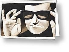 Roy Orbison Greeting Card by David Shumate