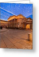 Royal Exchange Square At Borders Greeting Card by John Farnan