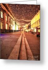 Royal Exchange Square Glasgow Greeting Card by John Farnan