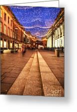 Royal Exchange Square  Greeting Card by John Farnan