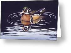 Royal Reflections Greeting Card by Richard De Wolfe