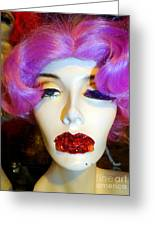 Ruby Red Lips Greeting Card by Ed Weidman
