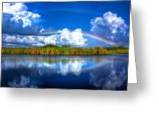 Rue's Rainbow Greeting Card by Mark Andrew Thomas