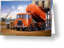 Rugby Cement Thornycroft. Greeting Card by Mike  Jeffries