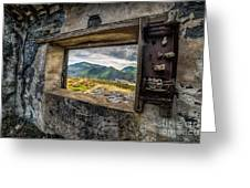 Ruin With A View  Greeting Card by Adrian Evans