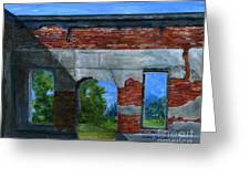 Ruins In Pleaant Hill Greeting Card by Lenora  De Lude