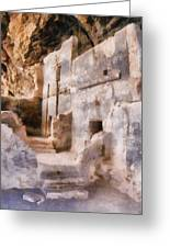 Ruins Greeting Card by Michelle Calkins