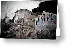 Ruins Of An Abandoned Farm House Greeting Card by RicardMN Photography