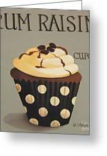 Rum Raisin Cupcake Greeting Card by Catherine Holman