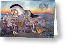 Run with Me Greeting Card by Betsy C  Knapp