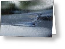 Running In The Rain Greeting Card by Jack Zulli