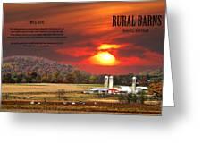 Rural Barns  My Book Cover Greeting Card by Randall Branham